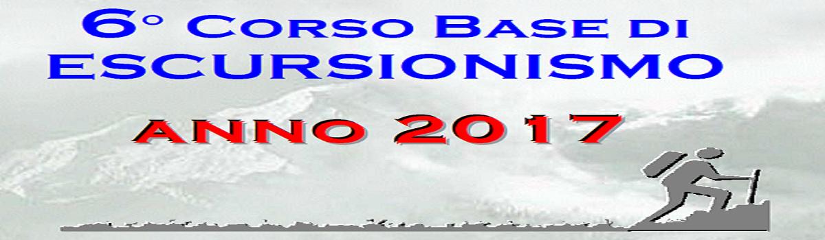 6° Corso Base di ESCURSIONISMO 2017