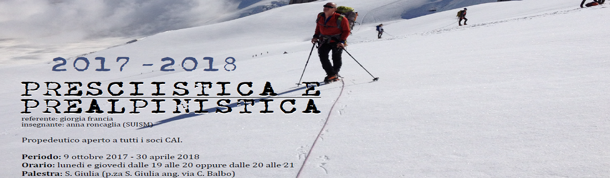 Preparazione alle attività Sciistiche ed Alpinistiche