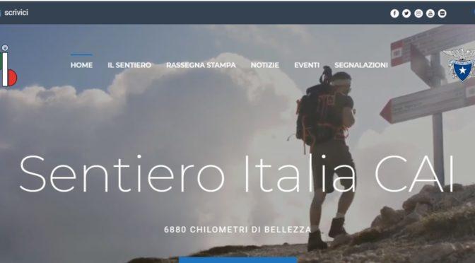 """ON LINE IL SITO DEL """"SENTIERO ITALIA CAI"""